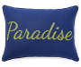 Paradise Navy Throw Pillow 13 inches x 18 inches silo front