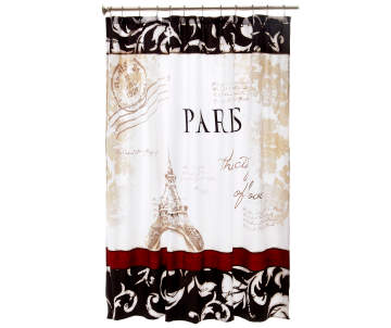 Living Colors Paris Shower Curtain