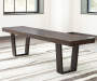 Parlone Brown Dining Bench lifestyle