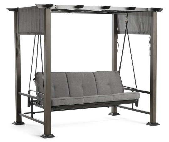 Broyhill Patio Pergola Cushioned Daybed, Big Lots Outdoor Swing Canopy Replacement