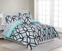 Patricia Mint Green and Black Queen 8 Piece Reversible Comforter Set lifestyle bedroom