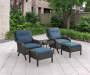 Pebble Beach 5-Piece All Weather Wicker Motion Chat Set