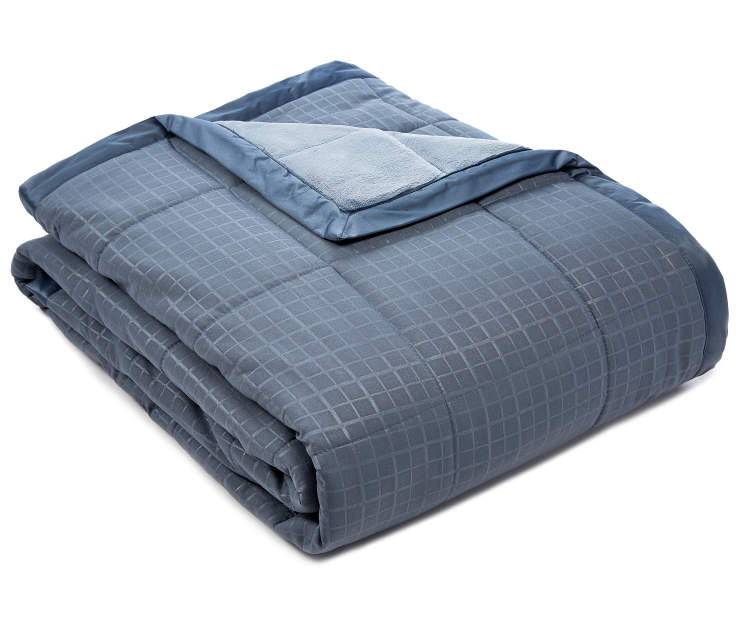 Perfect Sleeper Blue Down Alternative King Blanket  silo front