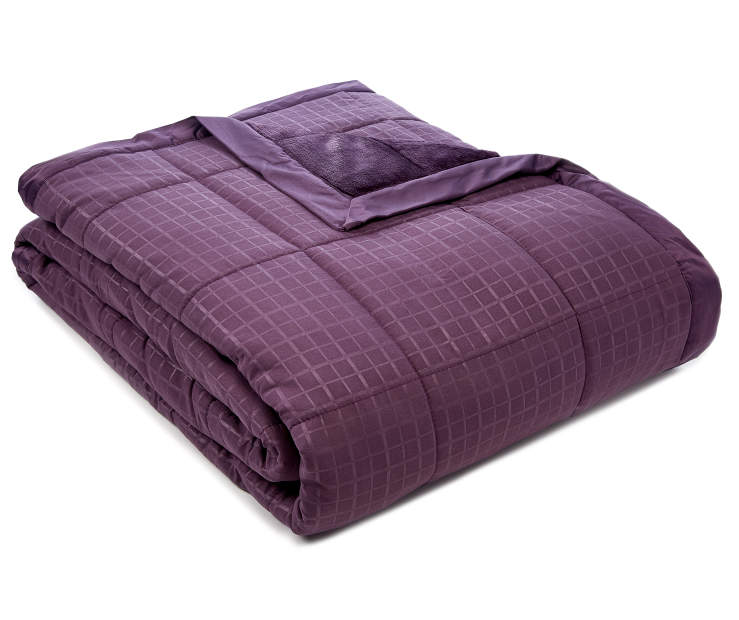 Perfect Sleeper Plum Down Alternative King Blanket silo front