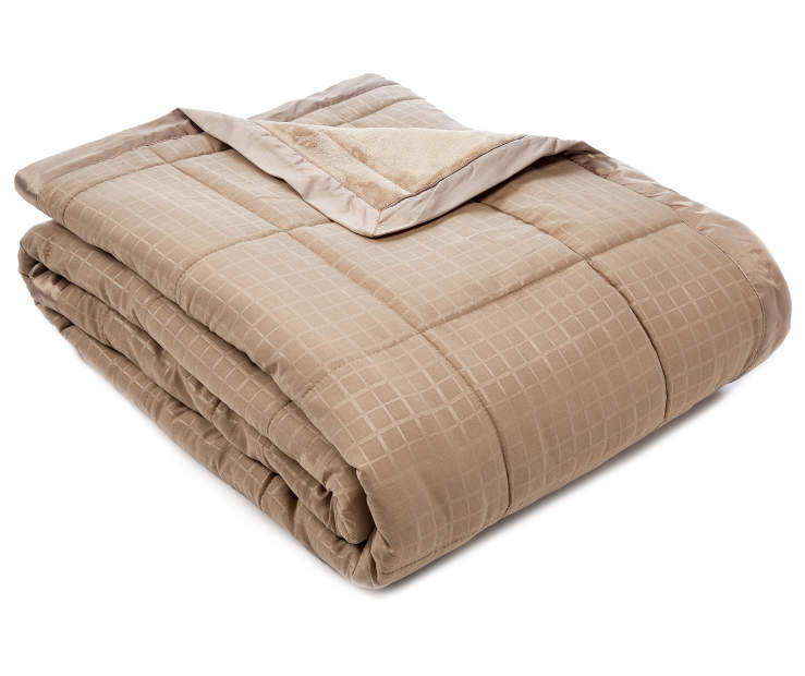 Perfect Sleeper Tan Down Alternative King Blanket silo front