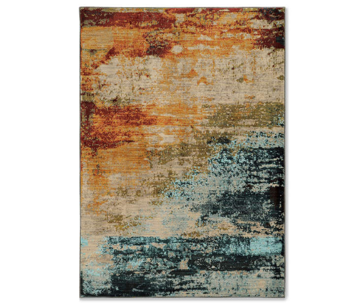 Peyton Multi Color Abstract Area Rugs Big Lots
