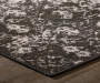 Phelps Gray Area Rug 6 Feet 7 Inches by 9 Feet 6 Inches Corner View Lifestyle Image