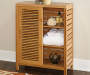 Pierce Bamboo 2 Door Floor Cabinet lifestyle