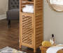 Pierce Bamboo 3 Shelf Tall Cabinet lifestyle
