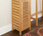 Pierce Bamboo Single Door Floor Cabinet lifestyle