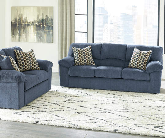 Signature Design By Ashley Pindall Denim Blue Sofa | Big Lots