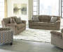 Pindall Furniture Collection with Sofa Loveseat Recliner and Accent Chair Room Setting Lifestyle Image