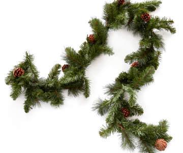 christmas garlands lighted outdoor garlands big lots - Outdoor Christmas Garland