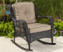 Pinehurst All Weather Wicker Rocker with Cushion environment