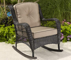 Wilson Fisher Pinehurst All Weather Wicker Rocker With Cushion Lots