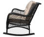 Pinehurst All Weather Wicker Rocker with Cushion silo side view