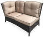 Pinehurst All Weather Wicker Sectional Corner Sofa silo angled view