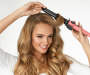 Pink 1inch Curling Iron silo front with model
