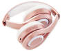 Pink Bluetooth Headphones with Microphone silo side view