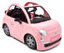 Pink Fiat 500 Fashion Doll Car silo front