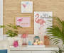 Pink Flamingo Tabletop Clock  lifestyle