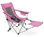 Pink Quad Chair with Footrest silo angled