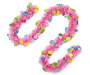 Pink Tinsel Egg Easter Garland 9 feet silo front view