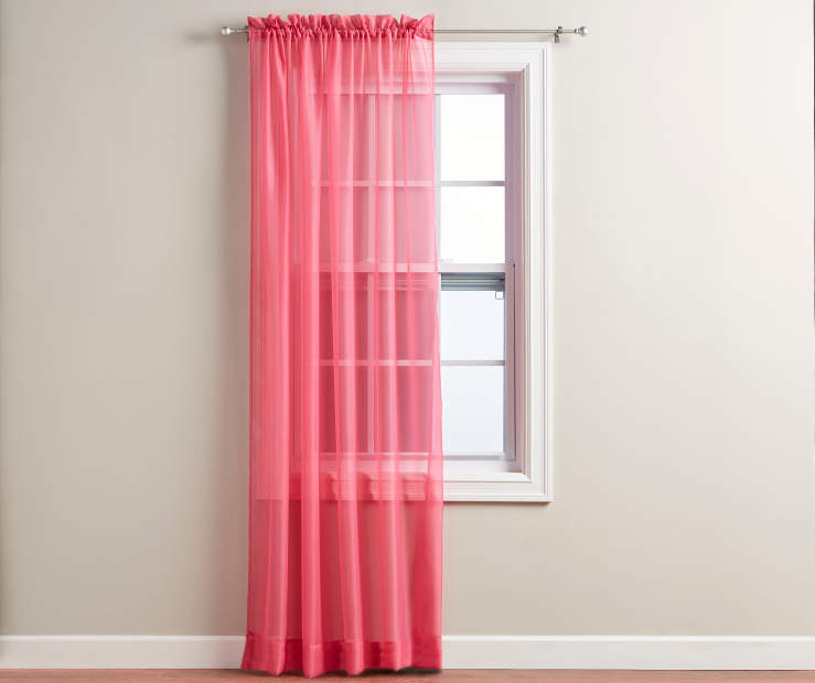 "Pink Voile Panel 84"" on Window Room View"