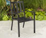 Pinnacle Slat Steel Stacking Patio Chair