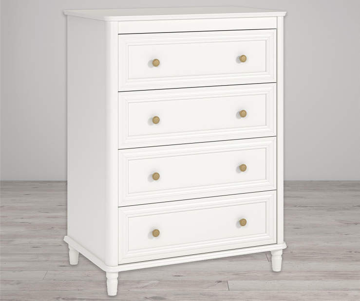 Piper Cream 4 Drawer Dresser lifestyle
