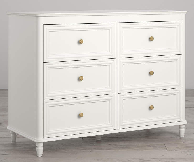 Piper Cream 6 Drawer Dresser lifestyle