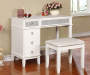 Piper White Mirror Vanity Set with Stool lifestyle