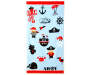 Pirates and Treasure Beach Towel 30 inches  x 60 inches silo front
