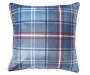 Plaid Deer Throw Pillow 18 inch x 18 inch silo front back view