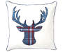 Plaid Deer Throw Pillow 18 inch x 18 inch silo front