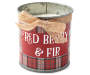 Plaid Red Berry and Fir Tin Candle 17 Ounce silo front