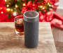 Platinum Concierge Wireless Speaker with Amazon Alexa On COUnter Next to Glass Closer Up