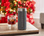 Platinum Concierge Wireless Speaker with Amazon Alexa On COUnter Next to Glass Side with Buttons