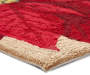 Poinsettia Hook Accent Rug 18 x 30 Silo Image Close Up Corner
