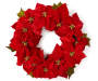 Poinsettia Wreath 22 inches silo image