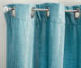 Polazzo Nile Blue Chenille Curtain Panel Pair 84 inches Silo Pattern Detail