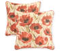 Poppy Sunset Outdoor Square Throw Pillow 2 Pack