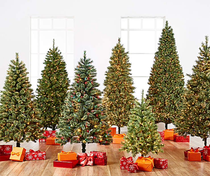 Big Lots Christmas.Pre Lit Artificial Cashmere Christmas Trees Big Lots