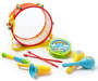 Preschool Rhythm and Drum Set 8 Piece Out of Package Silo Image