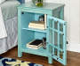 Preston Turquoise Vintage Single Door Cabinet lifestyle