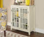 Preston White Vintage 2 Door Cabinet lifestyle