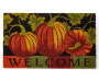 Pumpkin Parade Welcome Outdoor Coir Doormat Overhead View Silo Image