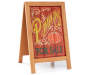 Pumpkin Wooden Easel Decor silo angled