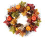 Pumpkin and Berry Twig Wreath 22 inch silo front