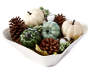 Pumpkin and Pinecone Bowl Fillers silo angled in bowl prop